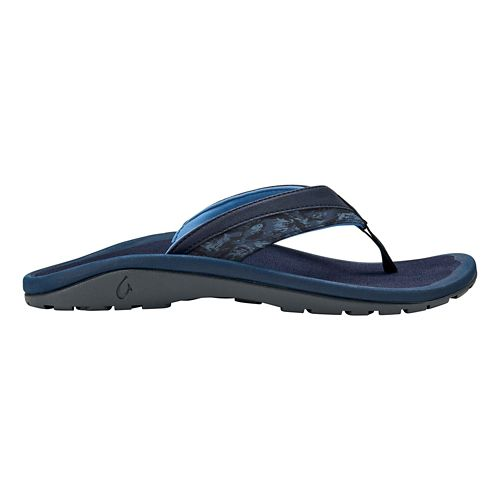 Mens OluKai 'Ohana Koa Sandals Shoe - Blue/Dive Camo 9