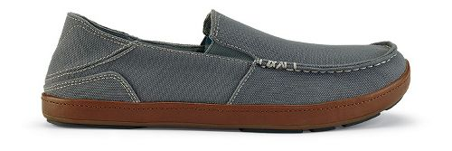 Mens OluKai Puhalu Canvas Casual Shoe - Charcoal/Toffee 9.5