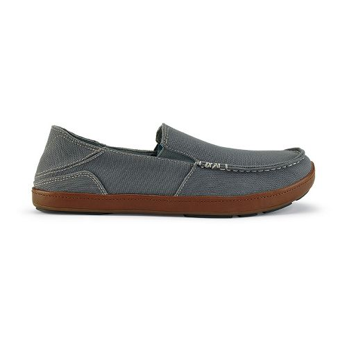 Mens OluKai Puhalu Canvas Casual Shoe - Charcoal/Toffee 10