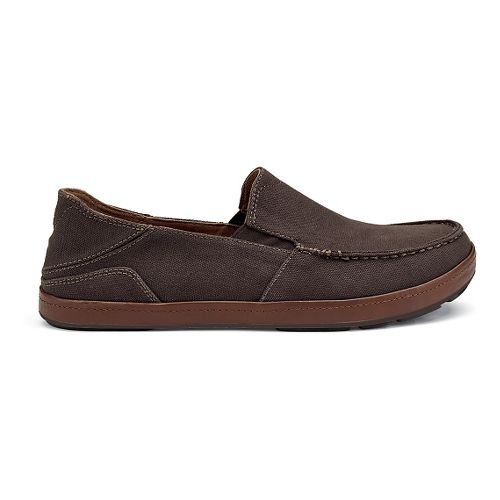 Mens OluKai Puhalu Canvas Casual Shoe - Dark Java/Toffee 14