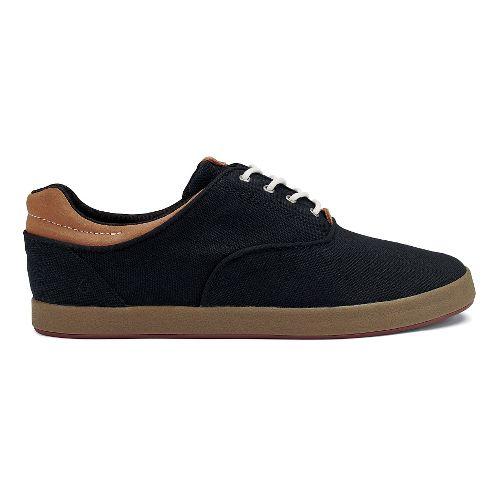 Mens OluKai Makani Lace-Up Casual Shoe - Black/Mustard 8.5