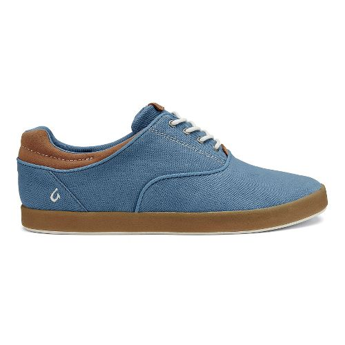 Mens OluKai Makani Lace-Up Casual Shoe - Channel Blue/Mustard 9