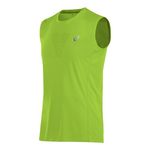 Mens ASICS FujiTrail Sleeveless & Tank Technical Tops - Key Lime M