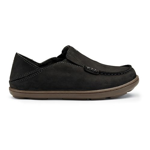 Kids OluKai Moloa Casual Shoe - Black/Dark Shadow 9C