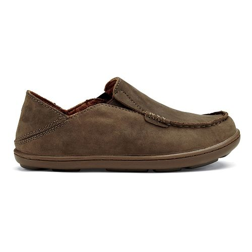 Kids OluKai Moloa Casual Shoe - Dark Wood/Mustang 10C
