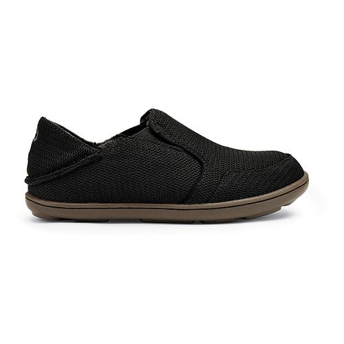 Kids OluKai Nohea Mesh Boys Casual Shoe - Black 4Y