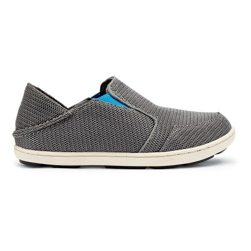 Kids OluKai Nohea Mesh Boys Casual Shoe - Grey/Scuba 4Y