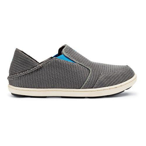 Kids OluKai Nohea Mesh Boys Casual Shoe - Grey/Scuba 5Y