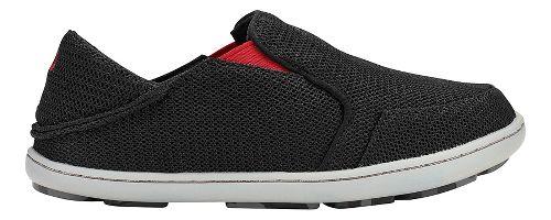 OluKai Nohea Mesh Casual Shoe - Black/Deep Red 13C