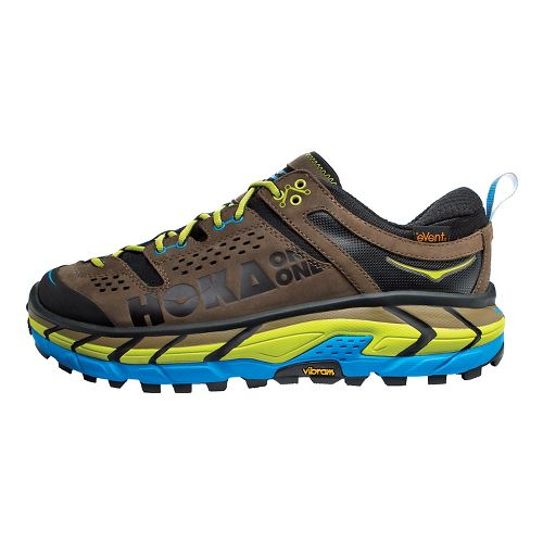 Mens Hoka One One Tor Ultra Low WP Hiking Shoe - Grey/Cyan 14