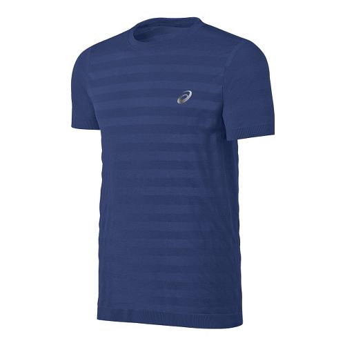 Mens ASICS fuzeX Seamless Tee Short Sleeve Technical Tops - Deep Cobalt S
