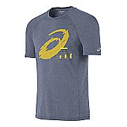 Mens ASICS Go the Distance Tech Tee Short Sleeve Technical Tops