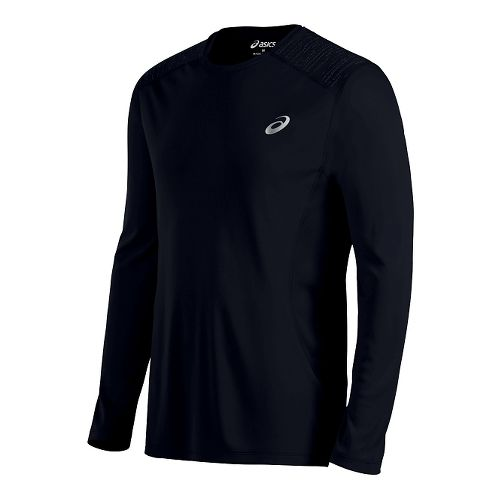 Mens ASICS Lite-Show Long Sleeve Technical Tops - Black L