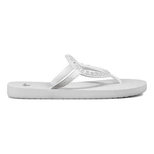 Womens Sanuk Ibiza Monaco Sandals Shoe - White/Silver 11