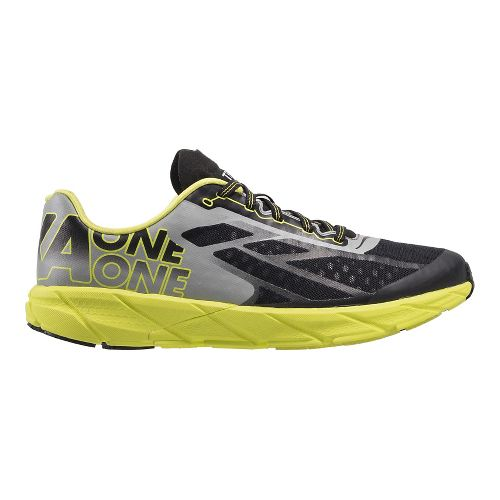 Mens Hoka One One Tracer Running Shoe - Black/Citrus 12