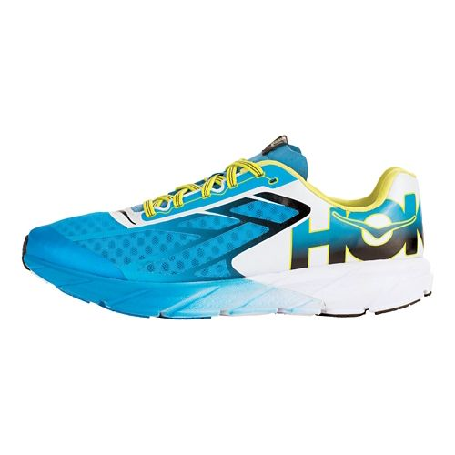 Mens Hoka One One Tracer Running Shoe - Cyan/Black 9