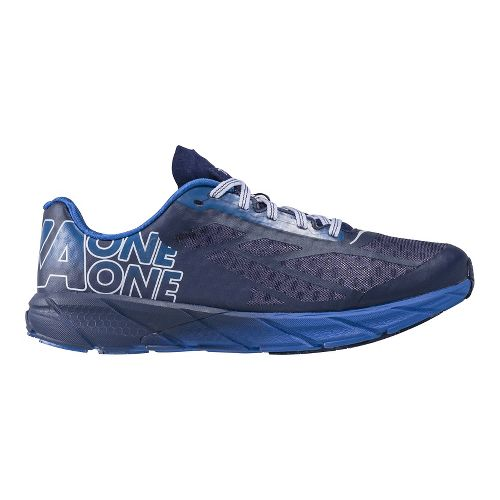 Mens Hoka One One Tracer Running Shoe - Blue/White 12.5