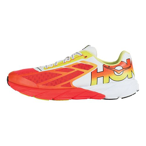 Mens Hoka One One Tracer Running Shoe - Cherry Tomato/Acid 12