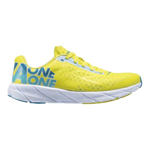 Mens Hoka One One Tracer Running Shoe - Yellow/Blue 11.5
