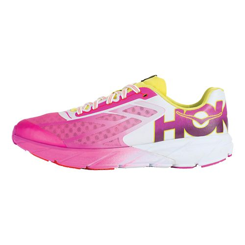 Womens Hoka One One Tracer Running Shoe - Fuchsia/Citrus 9
