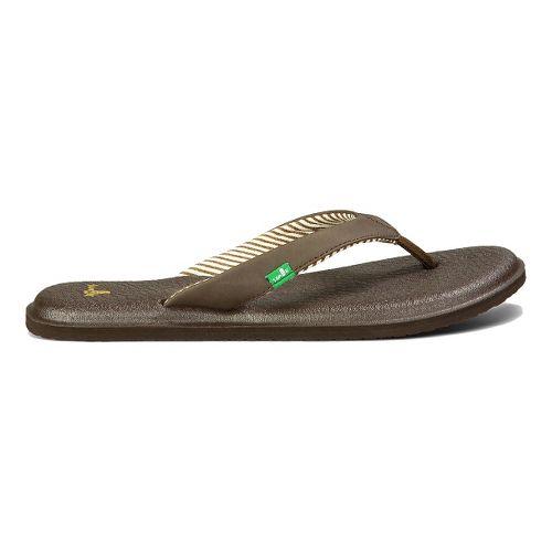 Womens Sanuk Yoga Chakra Sandals Shoe - Brown 9