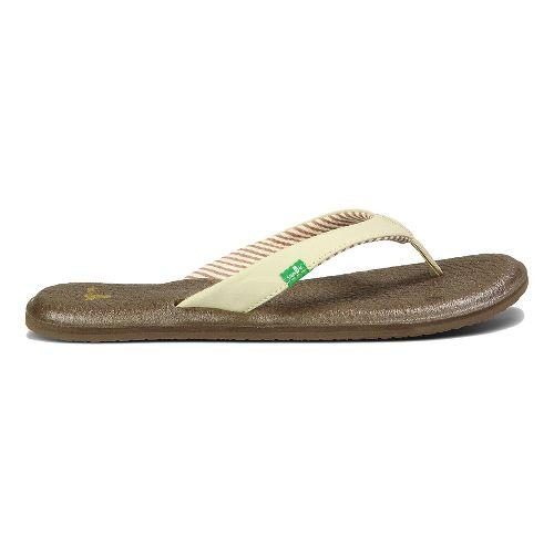 Womens Sanuk Yoga Chakra Sandals Shoe - Light Natural 10