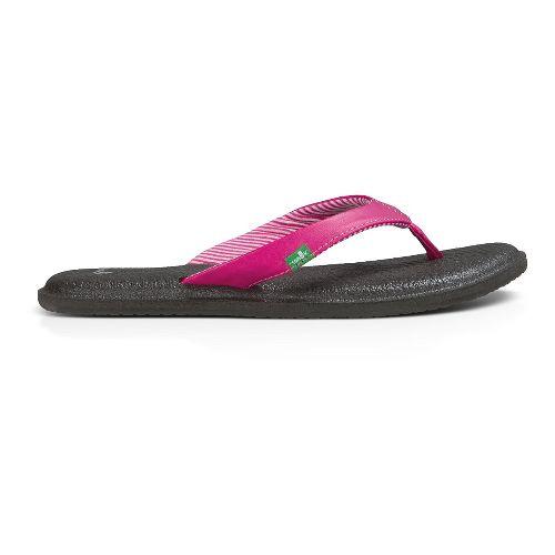 Womens Sanuk Yoga Chakra Sandals Shoe - Fuchsia 11