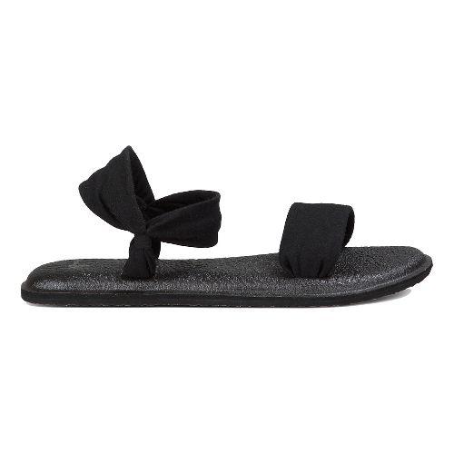 Womens Sanuk Yoga Duet Sandals Shoe - Black 10