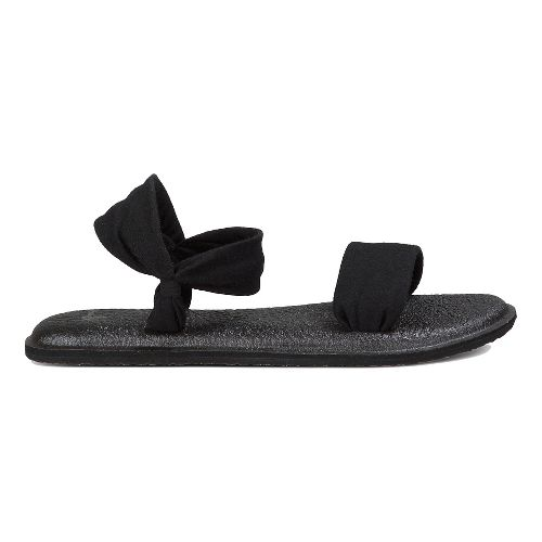 Womens Sanuk Yoga Duet Sandals Shoe - Black 11