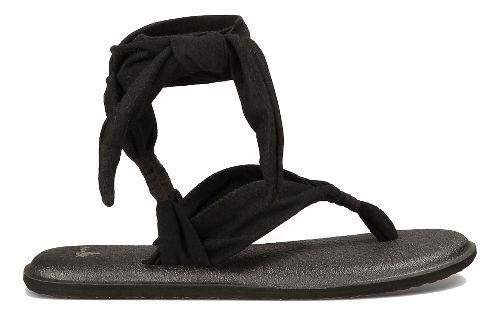 Womens Sanuk Yoga Slinged Up Sandals Shoe - Black 10