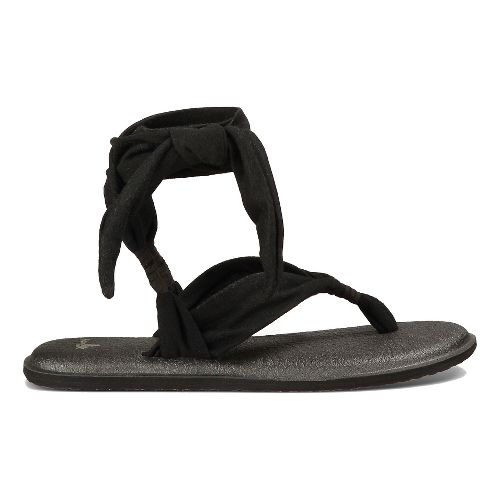 Womens Sanuk Yoga Slinged Up Sandals Shoe - Black 10