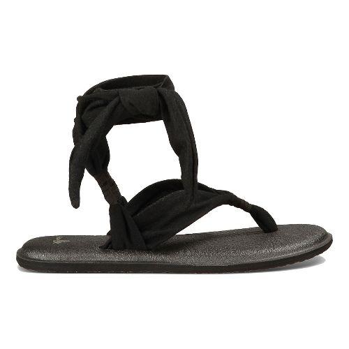 Womens Sanuk Yoga Slinged Up Sandals Shoe - Black 5