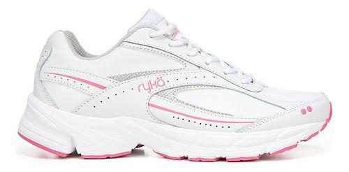 Womens Ryka Comfort Walk Walking Shoe - White/Silver 6.5