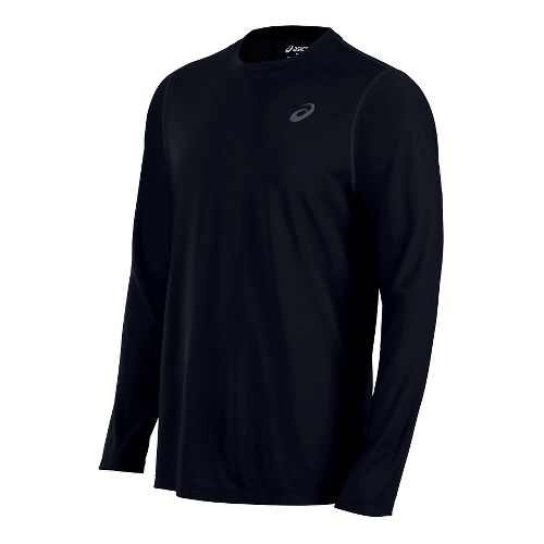 Mens ASICS Top Long Sleeve Technical Tops - Black XL