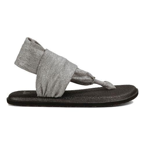 Womens Sanuk Yoga Sling 2 Metallic Sandals Shoe - Silver 5