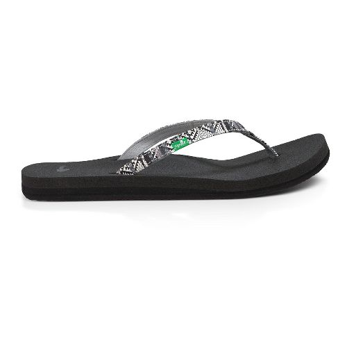 Womens Sanuk Yoga Joy Funk Sandals Shoe - Black/Multi Tribe Stripe 7