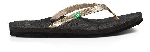 Womens Sanuk Yoga Joy Metallic Sandals Shoe - Champagne 9