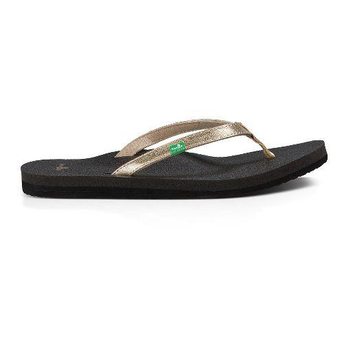 Womens Sanuk Yoga Joy Metallic Sandals Shoe - Champagne 8
