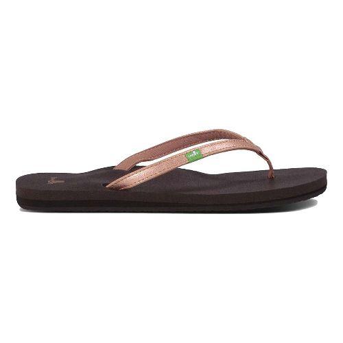 Womens Sanuk Yoga Joy Metallic Sandals Shoe - Rose Gold 5