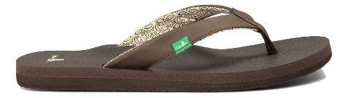 Womens Sanuk Yoga Zen Sandals Shoe - Brown 6
