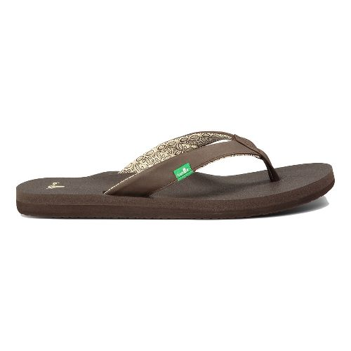 Womens Sanuk Yoga Zen Sandals Shoe - White 8