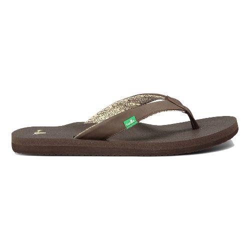 Womens Sanuk Yoga Zen Sandals Shoe - Hot Turquoise 5