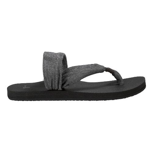 Womens Sanuk Yoga Sling It On Sandals Shoe - Charcoal 5