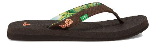 Womens Sanuk Yoga Paradise Sandals Shoe - Chocolate/Coral 6
