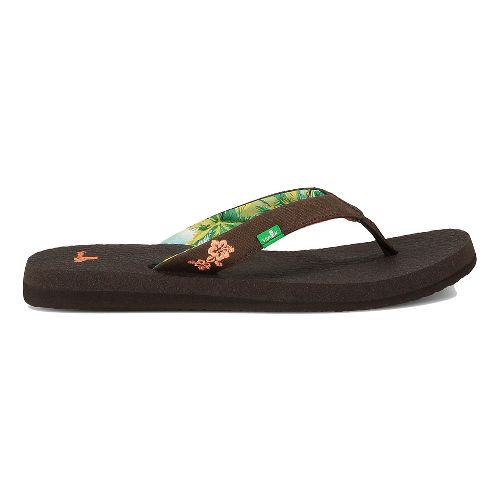 Womens Sanuk Yoga Paradise Sandals Shoe - Chocolate/Coral 10