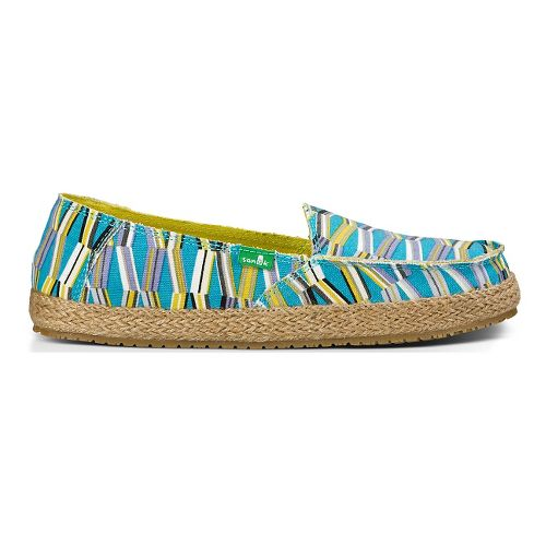 Womens Sanuk Funky Fiona Casual Shoe - Blue/Green Mod Geo 7