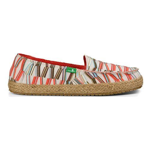 Womens Sanuk Funky Fiona Casual Shoe - Ivory/Spice Coral MG 9