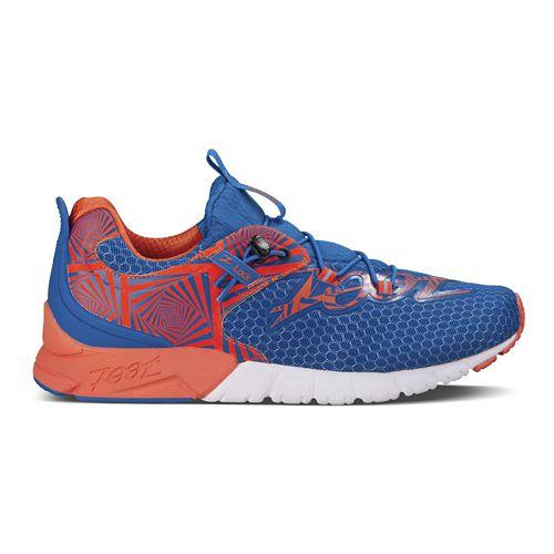 Mens Zoot Makai Running Shoe - Blue/Mandarin 11