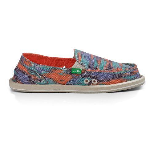 Womens Sanuk Donna Casual Shoe - Watercolor Poncho Br 10