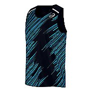 Mens ASICS Impact Singlet Sleeveless & Tank Technical Tops